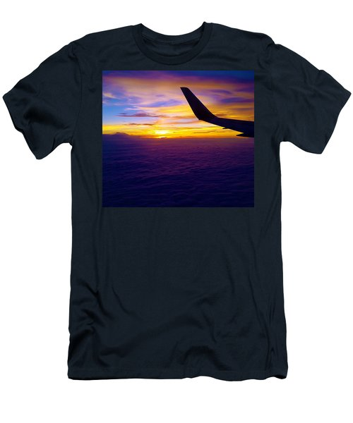 Sunrise Above The Clouds Men's T-Shirt (Athletic Fit)