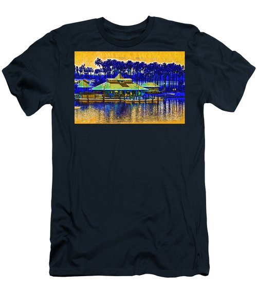 Sunrise At The Boat Dock Men's T-Shirt (Slim Fit) by Kirt Tisdale
