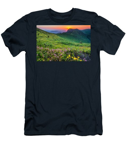 Sunrise Behind Goat Wall Men's T-Shirt (Athletic Fit)