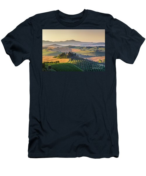 Sunrise In Tuscany Men's T-Shirt (Slim Fit) by JR Photography