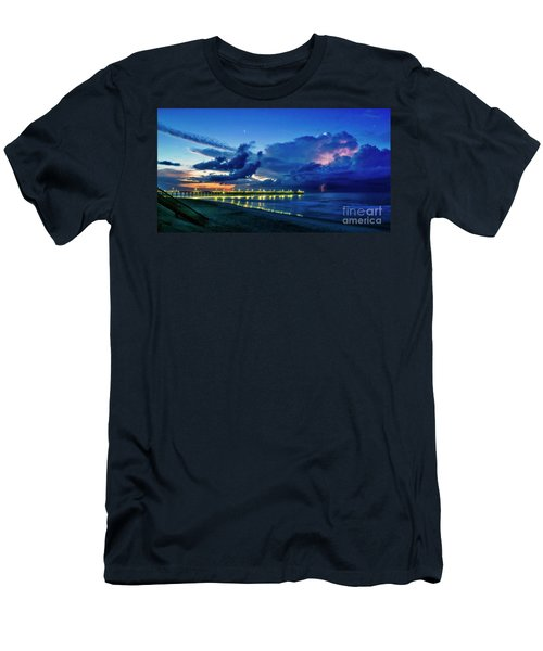 Sunrise Lightning Men's T-Shirt (Athletic Fit)