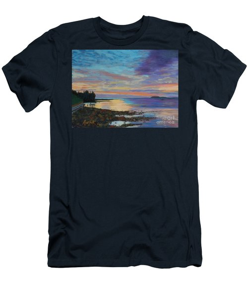 Sunrise On Tancook Island  Men's T-Shirt (Slim Fit) by Rae  Smith PAC