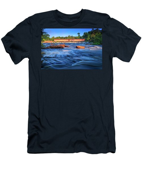 Sunrise On Watson Mill Bridge Men's T-Shirt (Athletic Fit)