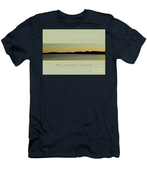 Sunrise Over Malletts Bay Greeting Card And Poster - Six V4 Men's T-Shirt (Slim Fit) by Felipe Adan Lerma