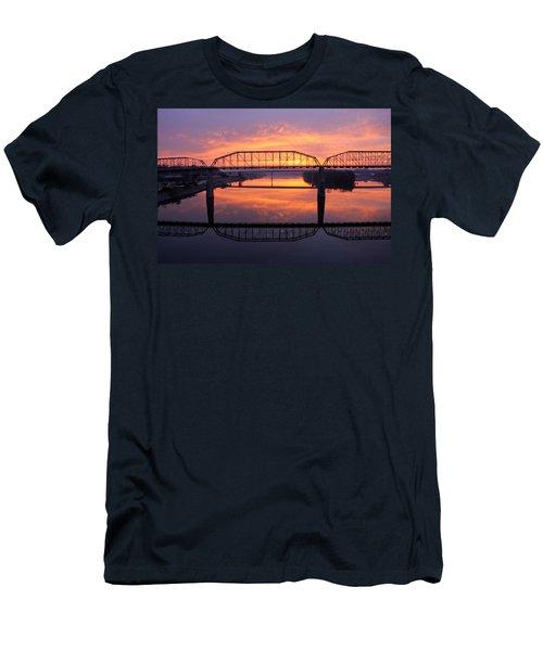 Sunrise Walnut Street Bridge 2 Men's T-Shirt (Athletic Fit)