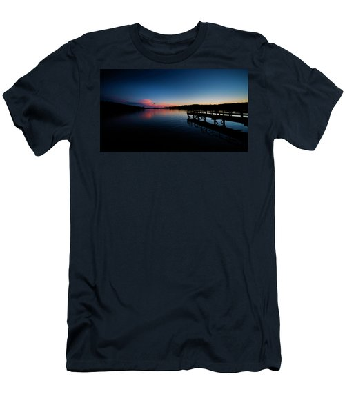 Sunset At The Pier Men's T-Shirt (Athletic Fit)