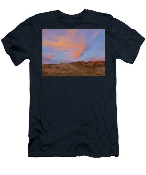 Sunset Clouds, Badlands Men's T-Shirt (Athletic Fit)