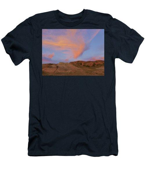 Sunset Clouds, Badlands Men's T-Shirt (Athletic Fit)