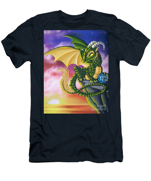 Sunset Dragon Men's T-Shirt (Athletic Fit)