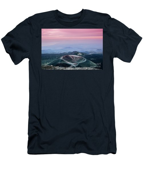Sunset From The Top Of The Etna Men's T-Shirt (Athletic Fit)