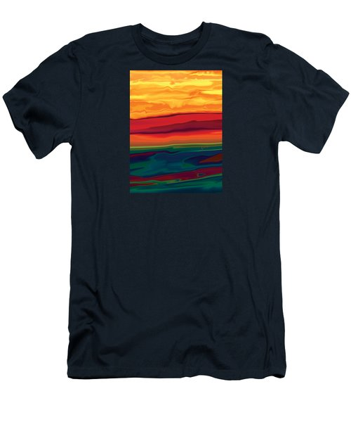 Men's T-Shirt (Slim Fit) featuring the digital art Sunset In Ottawa Valley 1 by Rabi Khan