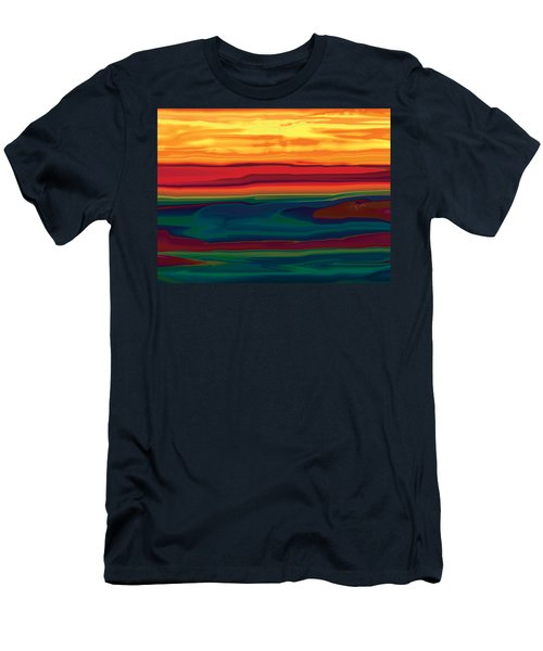 Men's T-Shirt (Slim Fit) featuring the digital art Sunset In Ottawa Valley by Rabi Khan