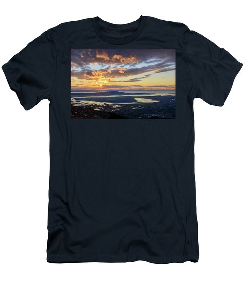 Men's T-Shirt (Athletic Fit) featuring the photograph Sunset In The Desert by Bryan Carter