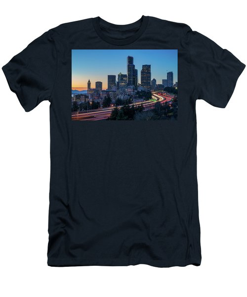 Sunset Night-freeway Lights Men's T-Shirt (Athletic Fit)