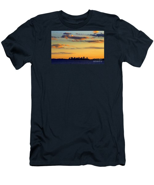 Sunset On Boston Men's T-Shirt (Athletic Fit)