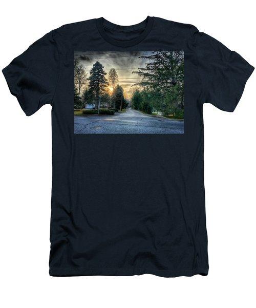 Sunset On Hilltop Drive Men's T-Shirt (Athletic Fit)
