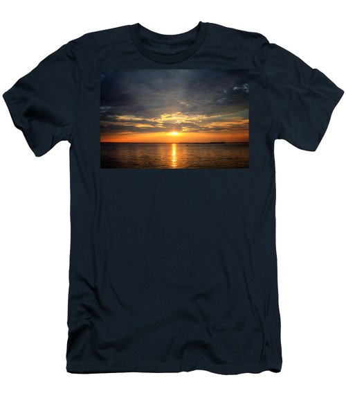 Men's T-Shirt (Slim Fit) featuring the photograph Sunset On Lake Hartwell by Lynne Jenkins