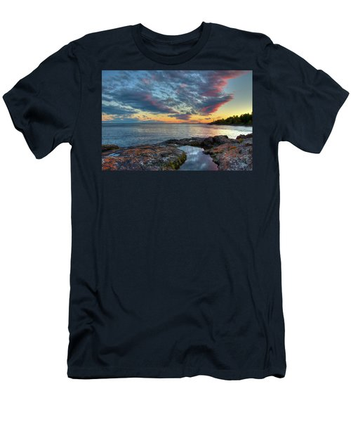 Sunset On Lake Superior Men's T-Shirt (Athletic Fit)