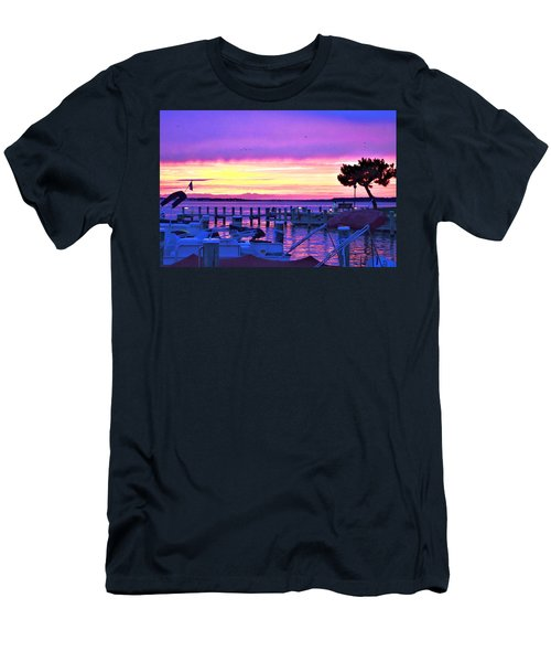 Sunset On The Docks Men's T-Shirt (Athletic Fit)