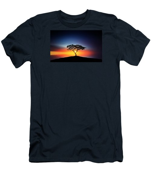 Sunset On The Tree Men's T-Shirt (Slim Fit) by Bess Hamiti