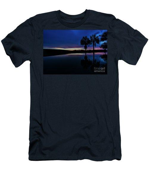 Sunset Palms Men's T-Shirt (Slim Fit) by Brian Jones