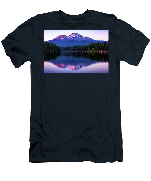 Men's T-Shirt (Athletic Fit) featuring the photograph Sunset Reflection On Lake Siskiyou Of Mount Shasta by John Hight