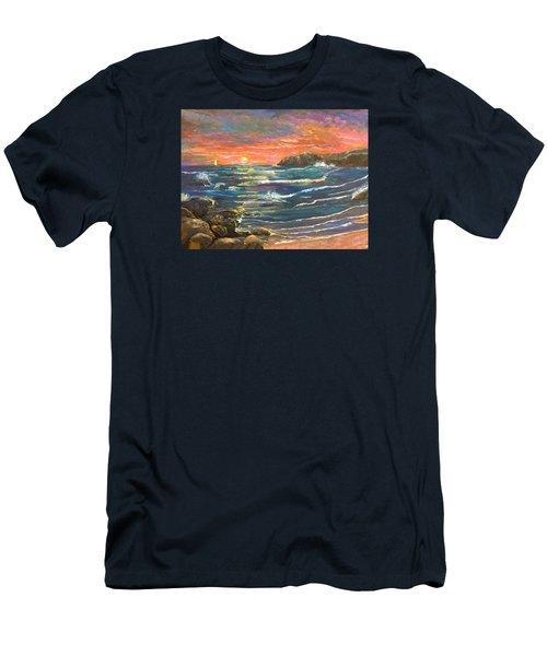 Sunset Sails Men's T-Shirt (Athletic Fit)