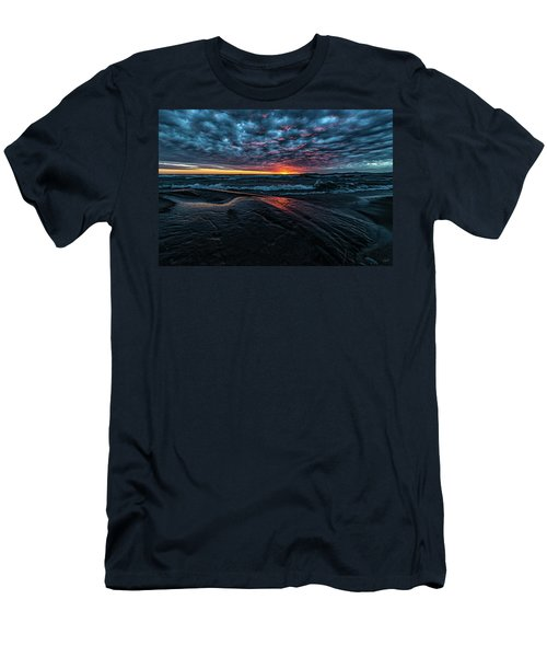 Men's T-Shirt (Athletic Fit) featuring the photograph Sunset Surf by Doug Gibbons