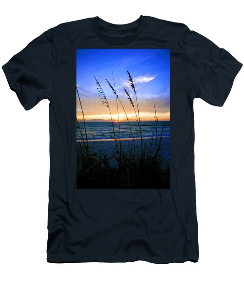 Sunset Thru The Sea Oats At Delnor Wiggins Men's T-Shirt (Athletic Fit)