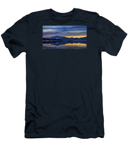Sunset Timber Cove Men's T-Shirt (Slim Fit) by Mitch Shindelbower