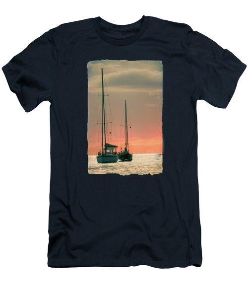 Sunset Yachts Men's T-Shirt (Slim Fit) by Konstantin Sevostyanov
