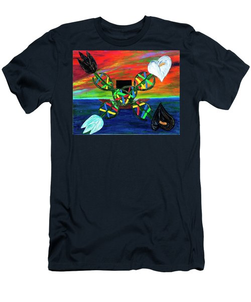 Men's T-Shirt (Athletic Fit) featuring the painting Sunseth In Atlantis by Rufus J Jhonson