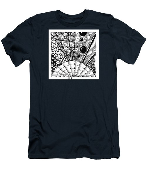 Men's T-Shirt (Athletic Fit) featuring the drawing Sunsplosion by Jan Steinle