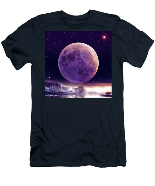 Super Cold Moon Over December Men's T-Shirt (Athletic Fit)