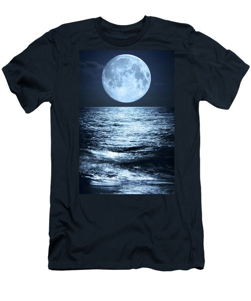 Super Moon Over Ocean Men's T-Shirt (Athletic Fit)