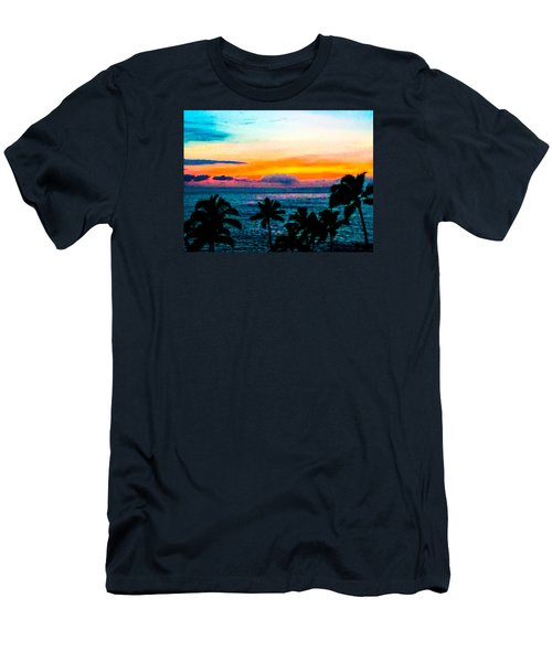 Surreal Sunset Men's T-Shirt (Slim Fit) by Russell Keating