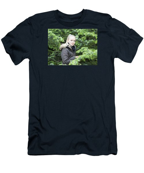 Surrounded By Trees Men's T-Shirt (Athletic Fit)