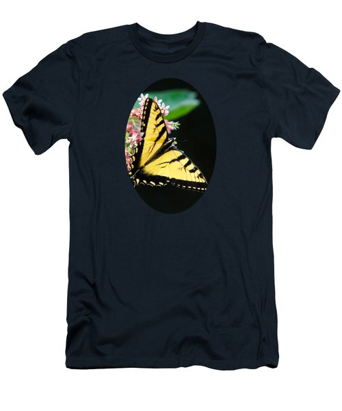 Swallowtail Butterfly And Milkweed Flowers Men's T-Shirt (Slim Fit) by Christina Rollo