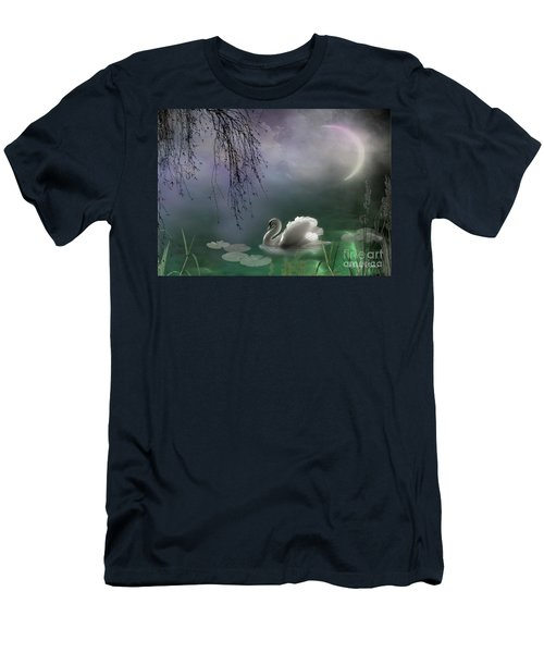 Swan By Moonlight Men's T-Shirt (Athletic Fit)