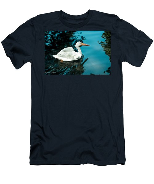 Men's T-Shirt (Slim Fit) featuring the photograph Swan Lake by Debbie Karnes