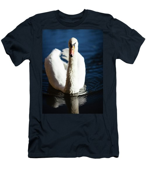Swan Posing Men's T-Shirt (Slim Fit) by Teemu Tretjakov