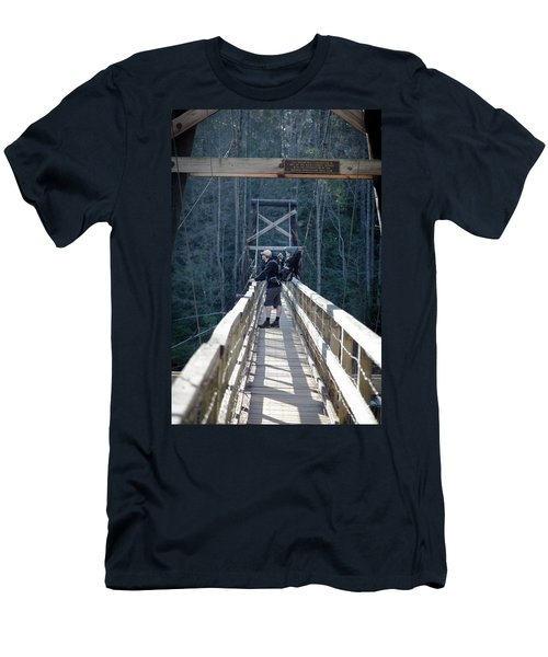 Swinging Bridge Men's T-Shirt (Athletic Fit)
