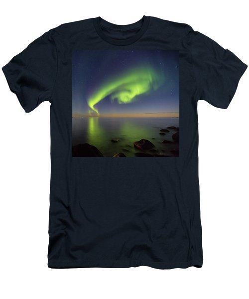 Swirl Men's T-Shirt (Slim Fit) by Alex Conu