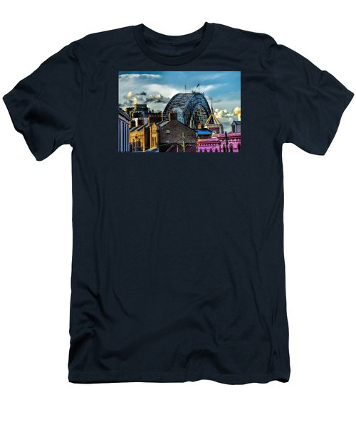 Sydney Harbor Bridge Men's T-Shirt (Slim Fit) by Diana Mary Sharpton