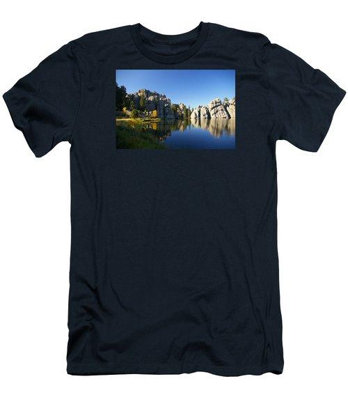 Sylvan Lake, Custer South Dakota Men's T-Shirt (Slim Fit) by Karen Cade