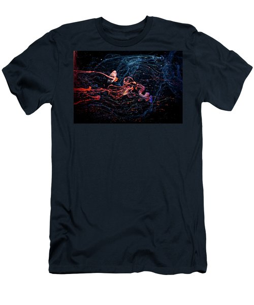Symphony - Abstract Photography - Paint Pouring Men's T-Shirt (Athletic Fit)