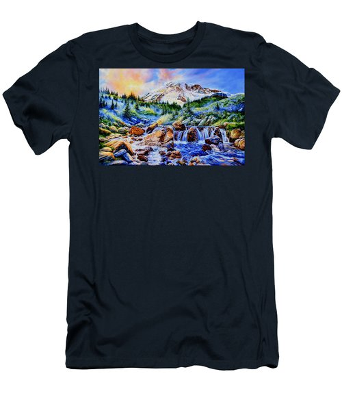 Men's T-Shirt (Athletic Fit) featuring the painting Symphony Of Silence by Hanne Lore Koehler