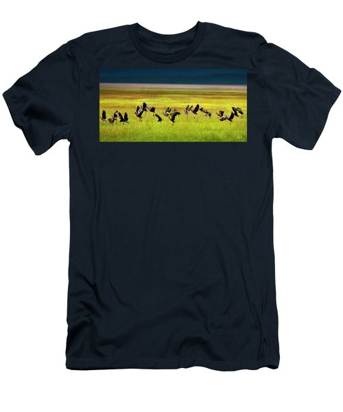 Men's T-Shirt (Slim Fit) featuring the photograph Take Off by Leland D Howard