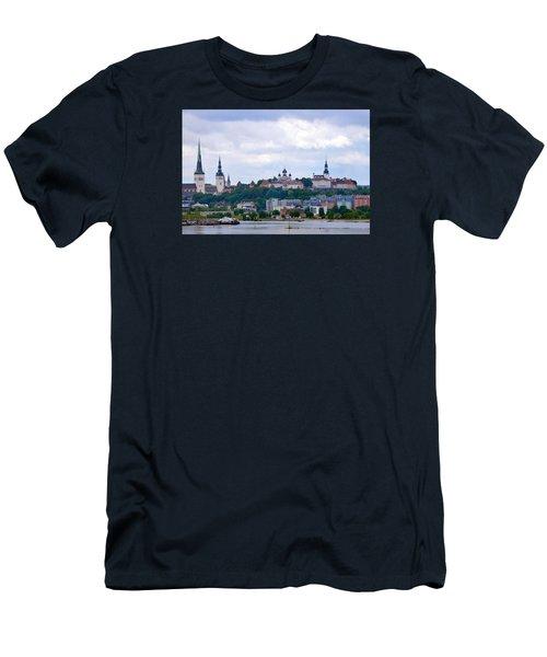 Tallinn Estonia. Men's T-Shirt (Slim Fit) by Terence Davis