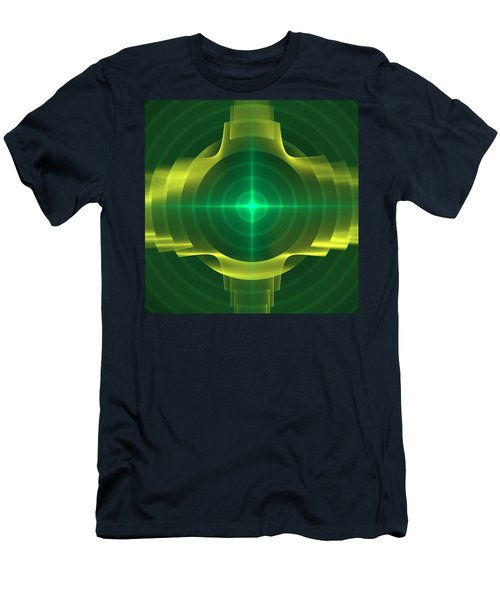 Men's T-Shirt (Slim Fit) featuring the digital art Target by Svetlana Nikolova